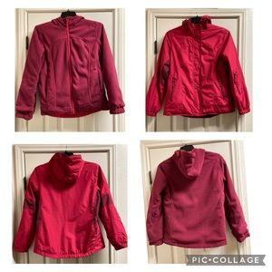 Free country reversible fleece water proof jacket